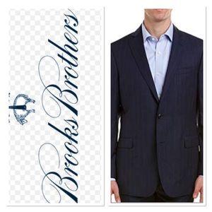 Brooks Brothers Navy Blue Linen Blazer Sz 42 R